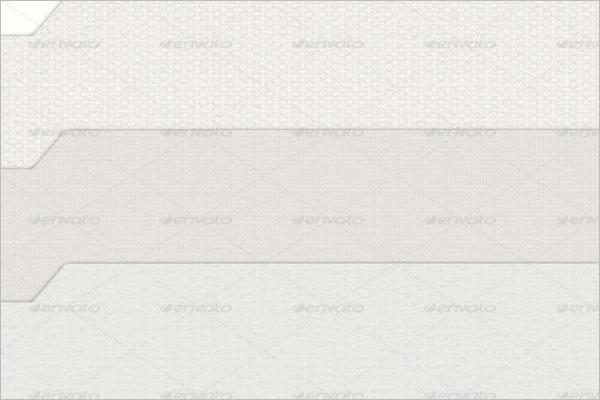 Subtle White Pressed Designs