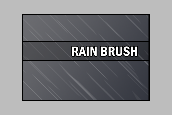 Super Rain Brushes Design Background