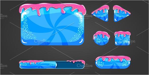 Sweet vector cartoon user interface Template