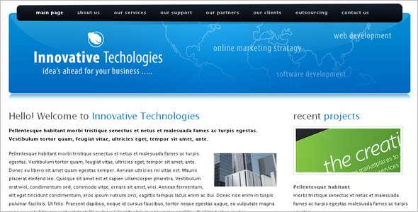 Technology WordPress Template