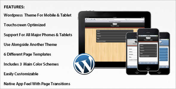 Touch Mobile WordPress Template