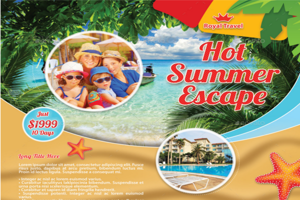 Travel Beach Design Brochure