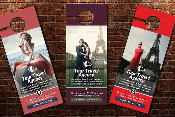 Travel Door Hanger Template