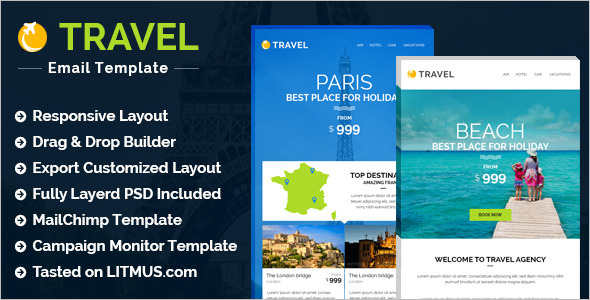 Travel Email Template Model