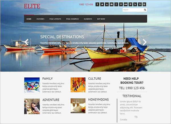 Travel Weebly Theme