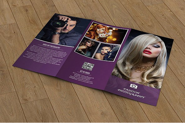 Tri-Fold Fashion Photography Brochure