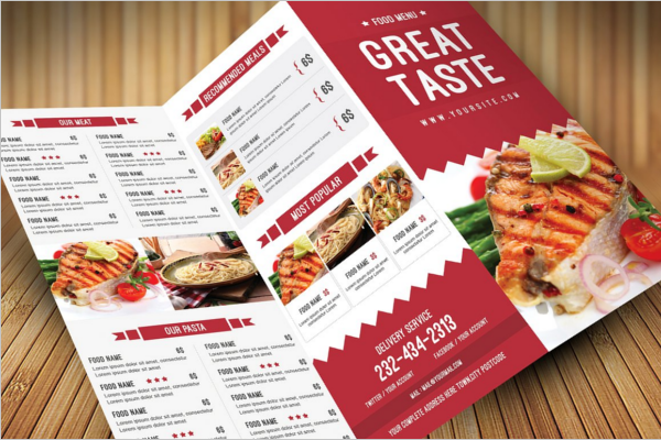 Tri-Fold Menu Card Flyer Design
