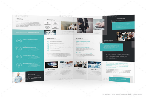 Tri-Fold Pantone Science Brochure