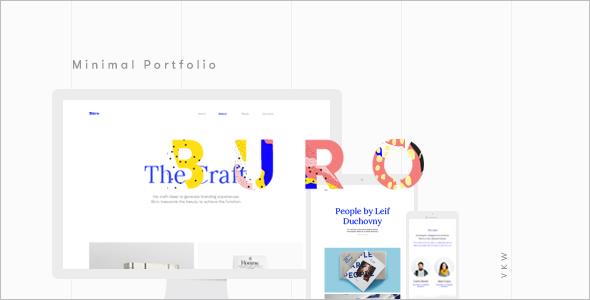 Typography Bootstrap Portfilio Template