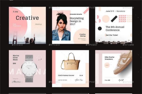 Typography Social Media Design Kit