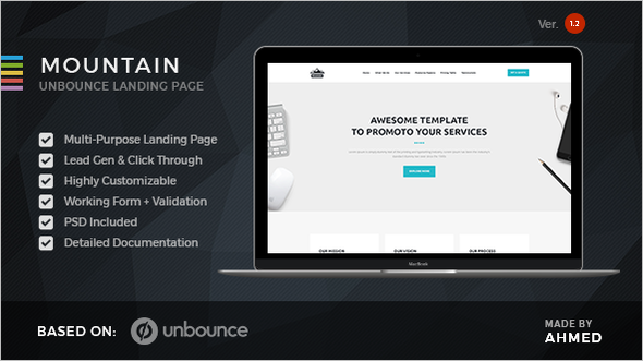 Unbounce Landing page Template Model