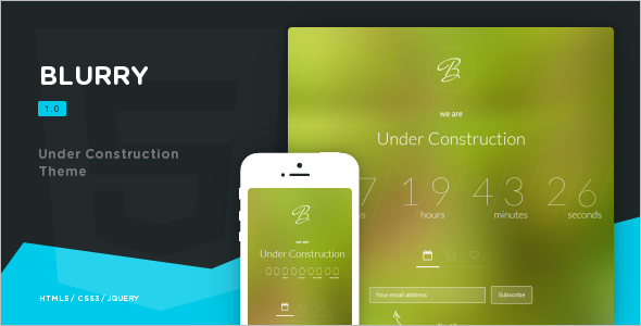 Under Construction Speciality Web Templates