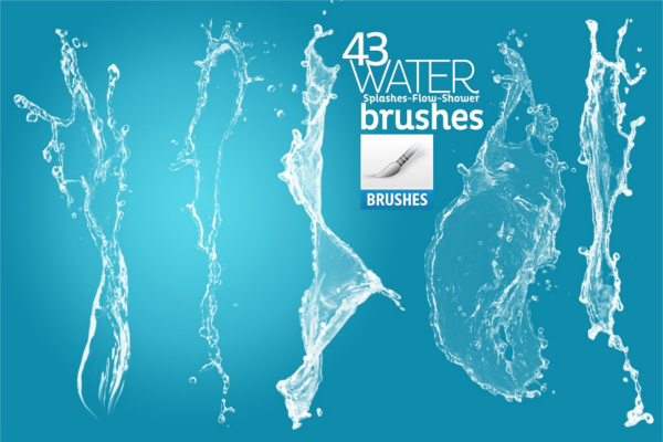 Underwater Splashes Brush Paint