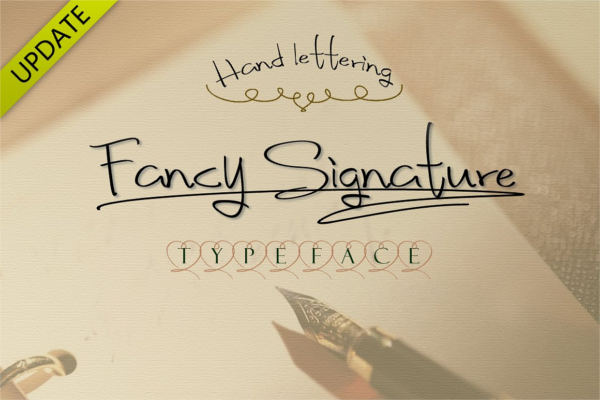 Unique Designing Signature Fonts