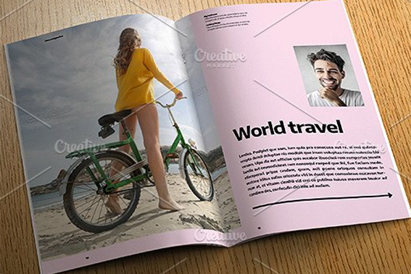 Unique Indesign Template Layout