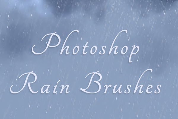 Unique Rain Brush Background Outlook