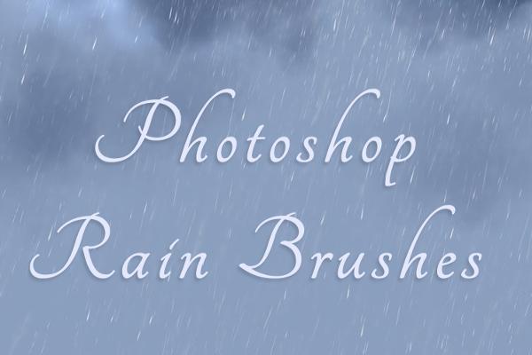 Unique Rain Brush Background Outlook