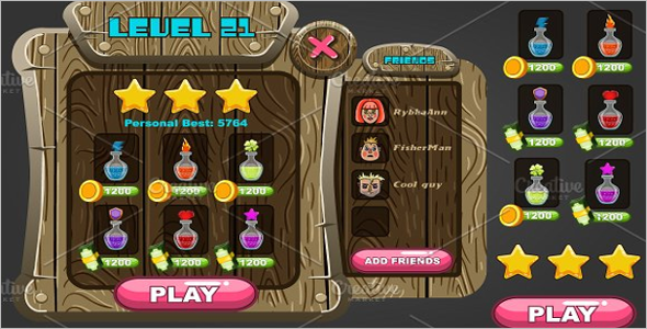 User Interface Game Design Theme