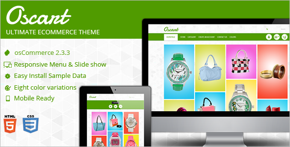 Utilized Mobile ready OsCommerce Theme