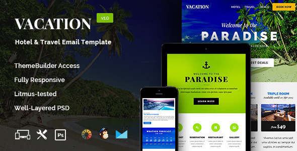 Vacation Travel Email Template