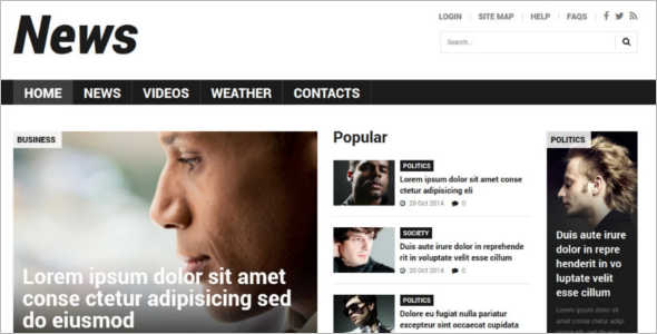 Vector News Joomla Template