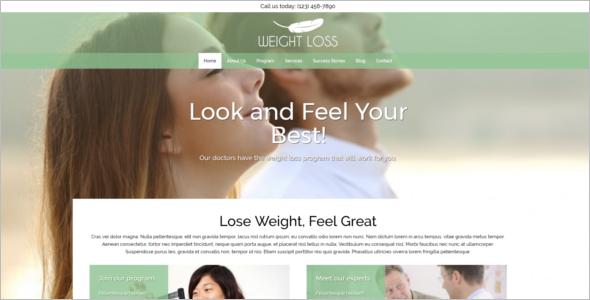 Vector Weight Loss WordPress Template