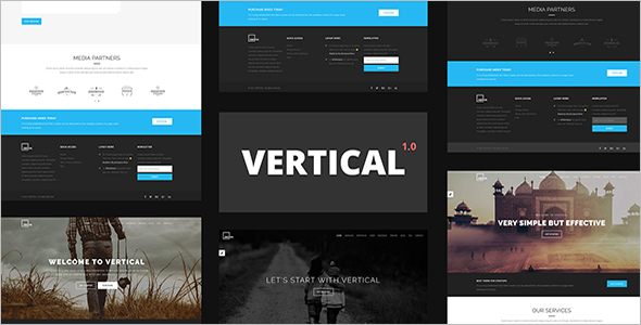 Vertical - One Page Magazine Template