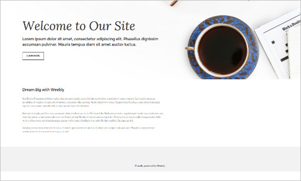 Vintage Weebly Themes