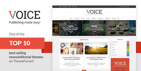 Voice Editorial WordPress Theme