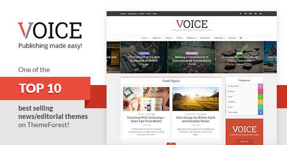 Voice Editorial WordPress Theme