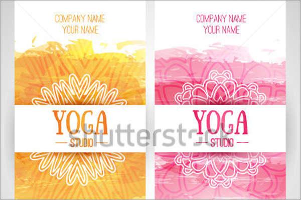 Watercolor Yoga Brochure Design