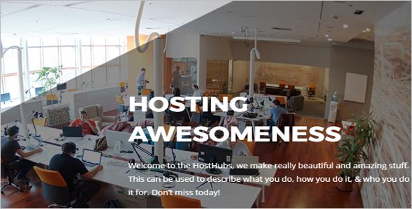 Web Hosting Slider Design Template