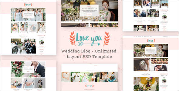 Wedding Blog PSD Template