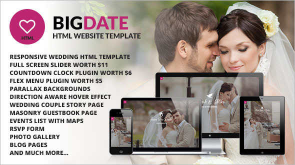 Wedding Blog Site Template