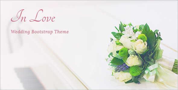 Wedding Bootstrap Blog Template