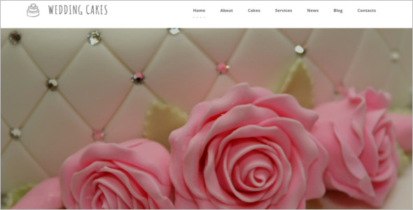 Wedding Cake Blog Template