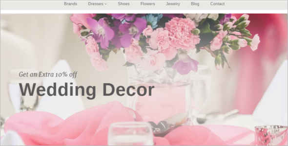 Wedding Decoration Blog Template