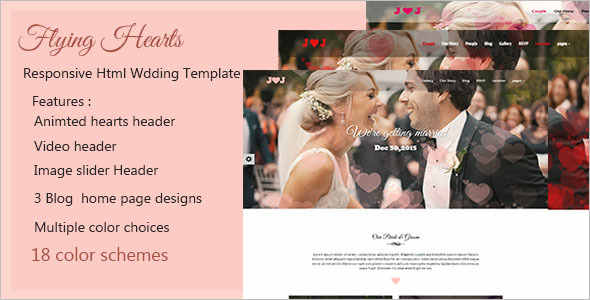 Wedding HTML Blog Template