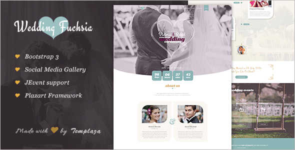 Wedding Joomla Blog Template