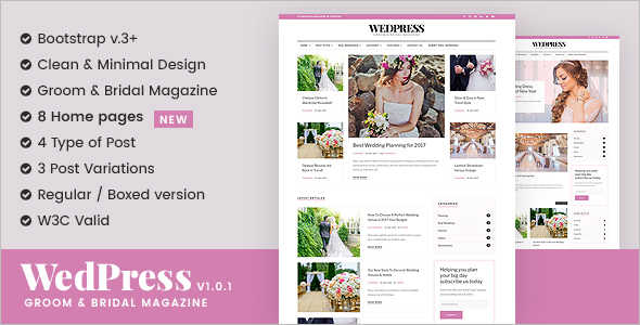 Wedding Magzine Blog Template