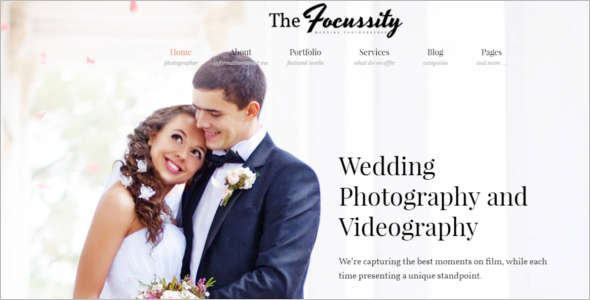 Wedding Photography Blog Template