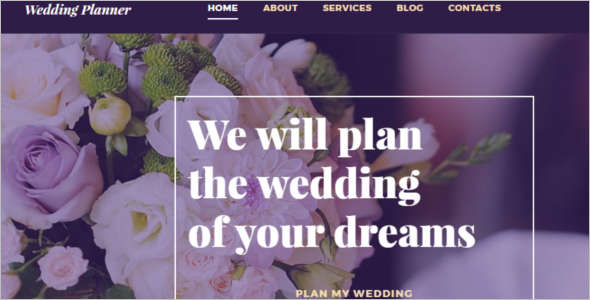 Wedding Planner Blog Template