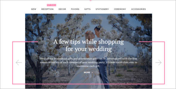 Wedding Shopify Blog Template