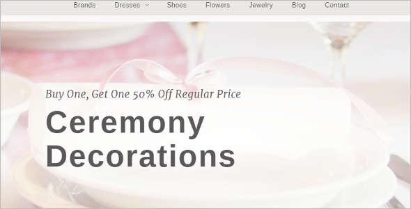 Wedding Store Blog Template