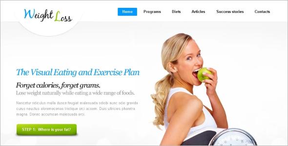Weight Loss HTML WordPress Template