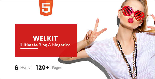 Welkit Blog Cover Magazine Template