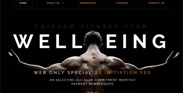 Wellbeing Fitness Website Template