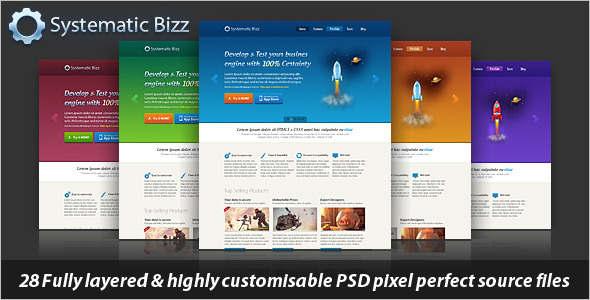 Wordpress PSD Template