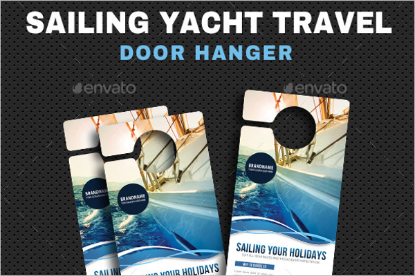 Yacht Travel Door Hanger Template