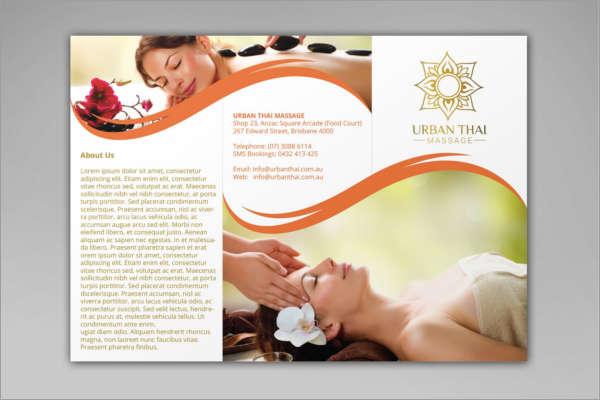 Yoga Massage Brochure Template
